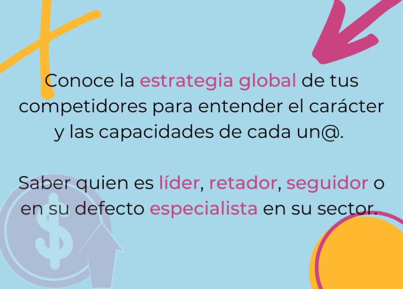 Análisis estrategia global del competidor.