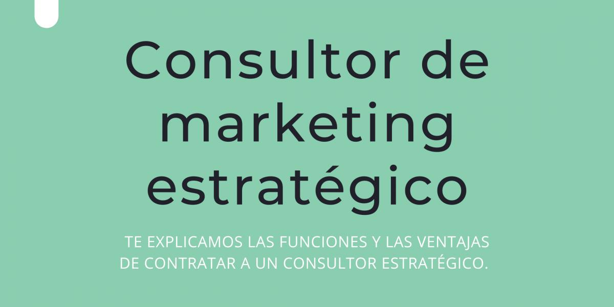 Consultor de marketing estratégico
